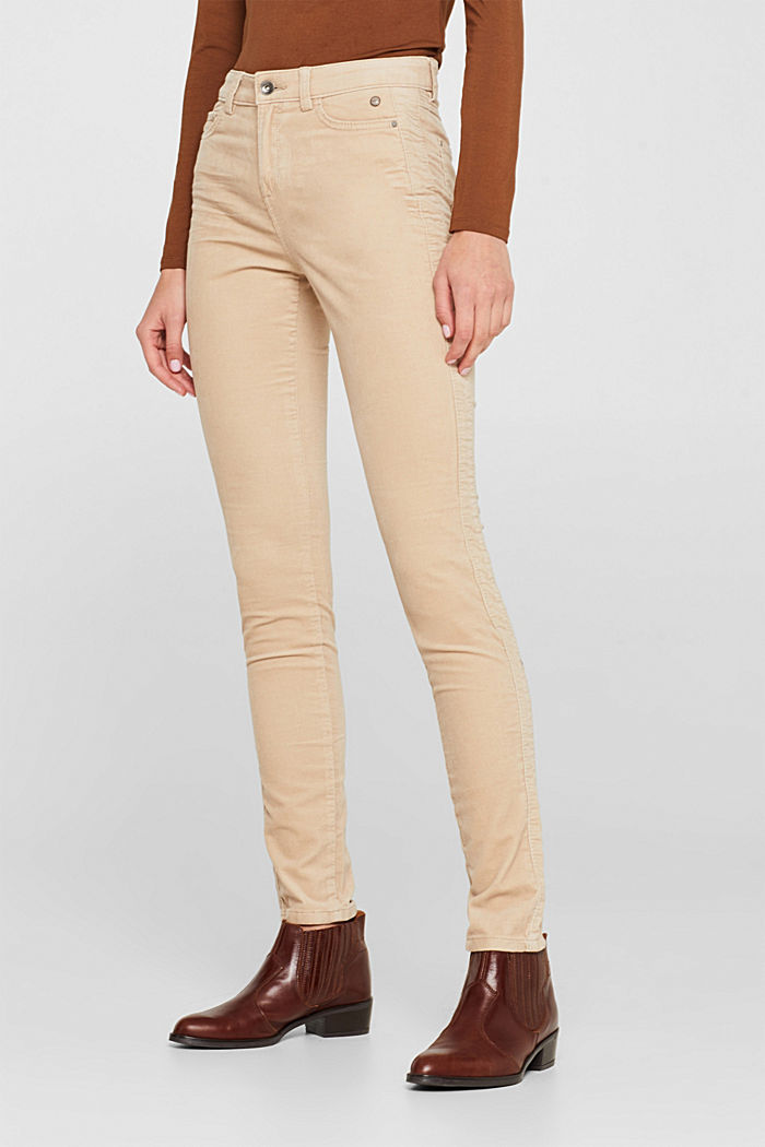 Stretch corduroy trousers, LIGHT BEIGE, detail image number 5