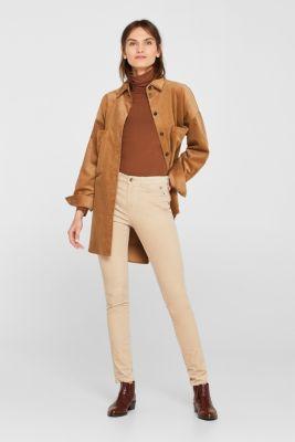 Stretch corduroy trousers, LIGHT BEIGE, detail