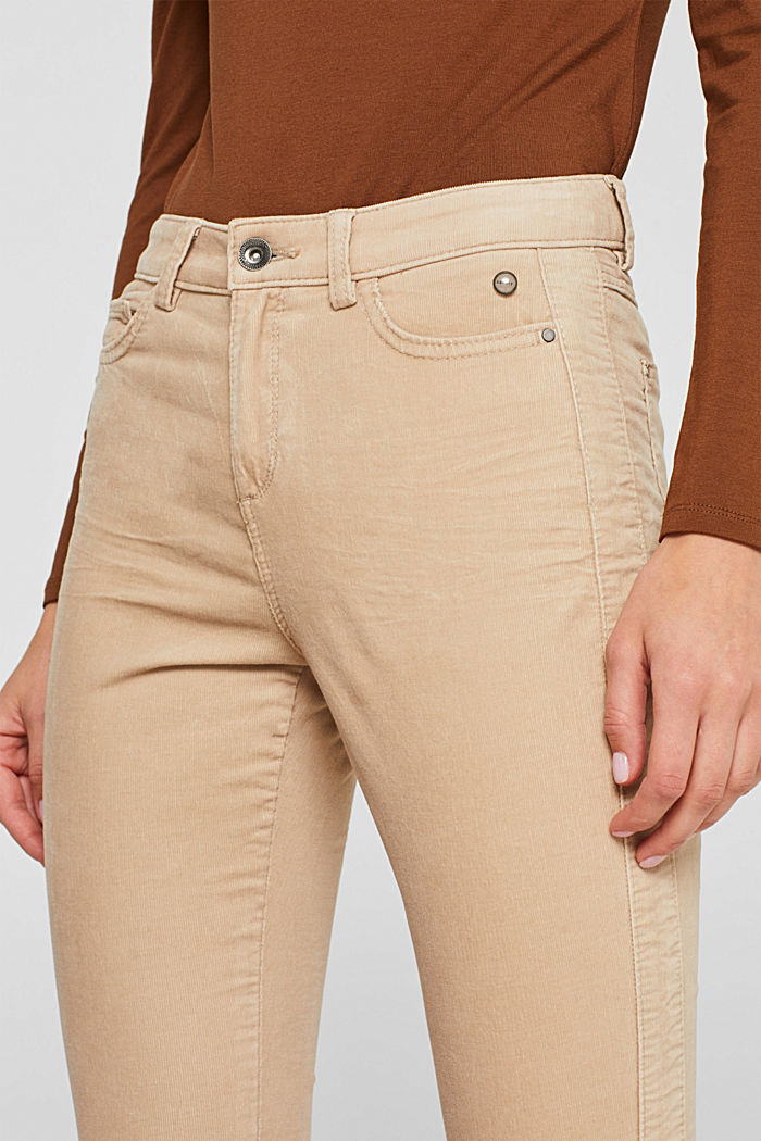 Stretch corduroy trousers, LIGHT BEIGE, detail image number 2