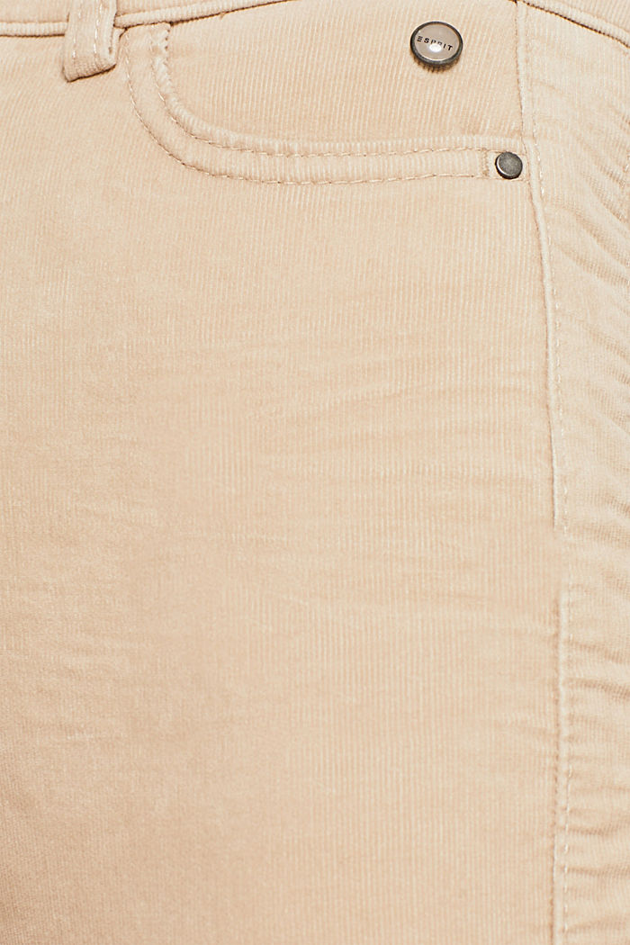 Stretch corduroy trousers, LIGHT BEIGE, detail image number 4