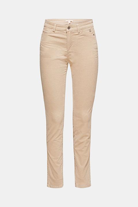 Stretch corduroy trousers