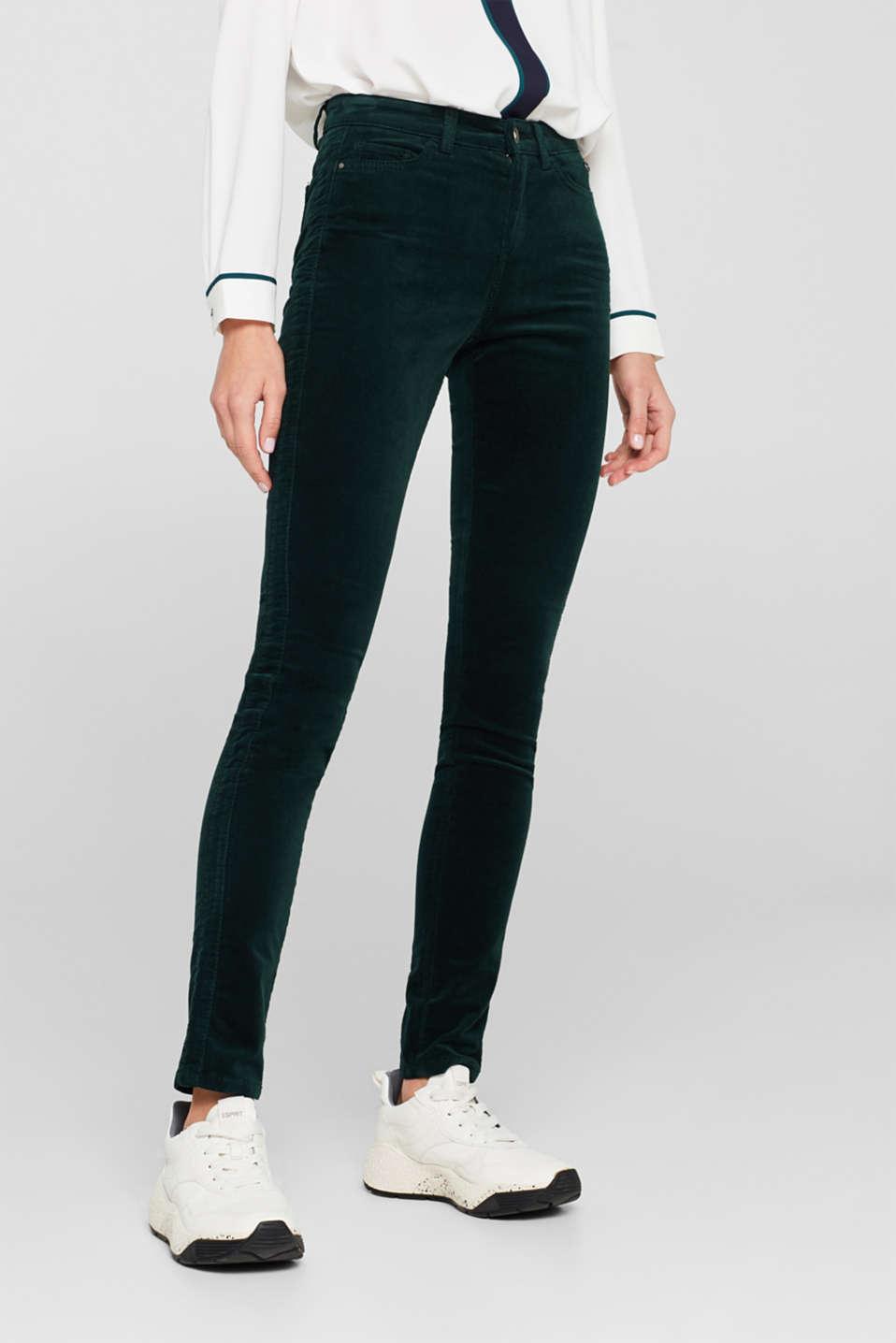 Pants woven, DARK TEAL GREEN, detail image number 5