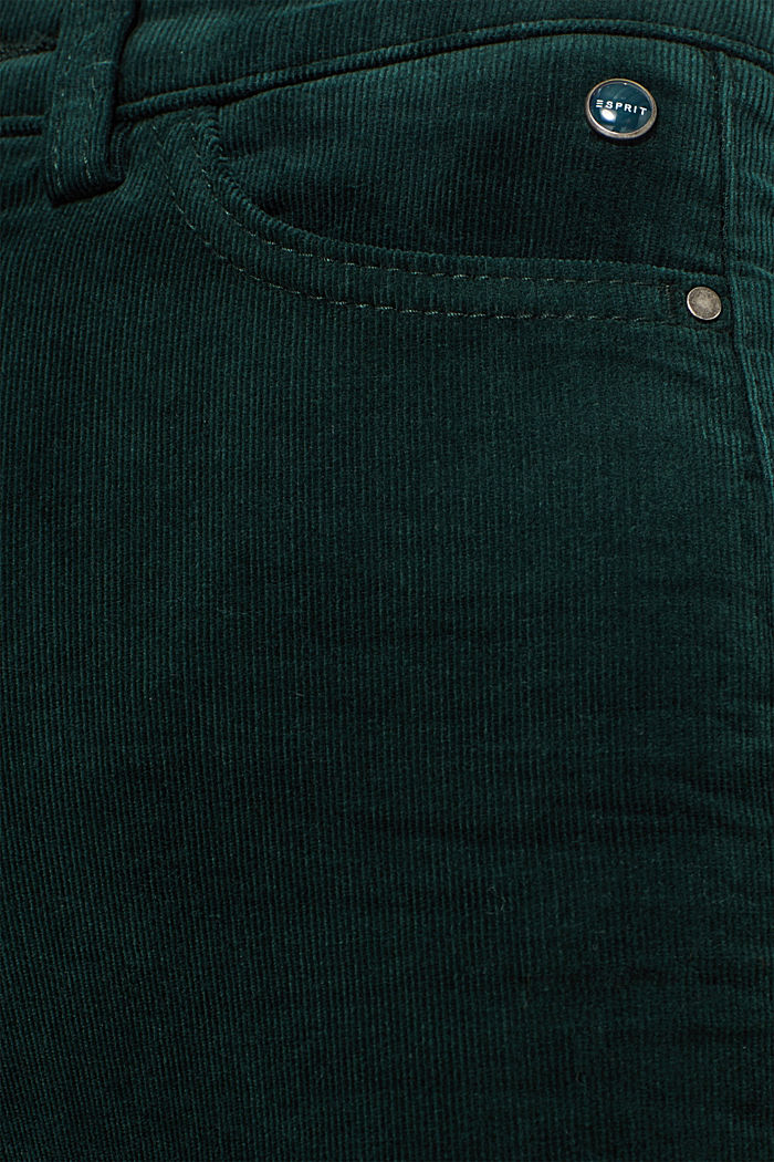 Stretch corduroy trousers, DARK TEAL GREEN, detail image number 4