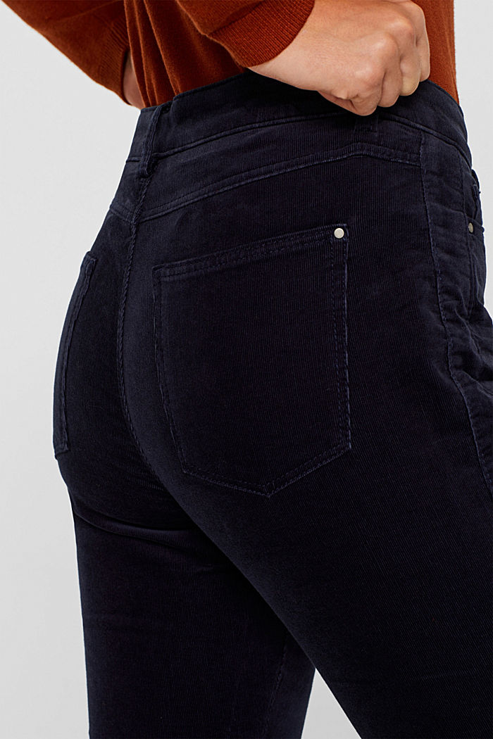 Stretch corduroy trousers, NAVY, detail image number 5