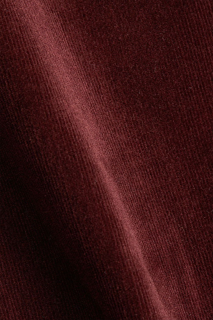 Stretch corduroy trousers, BORDEAUX RED, detail image number 4