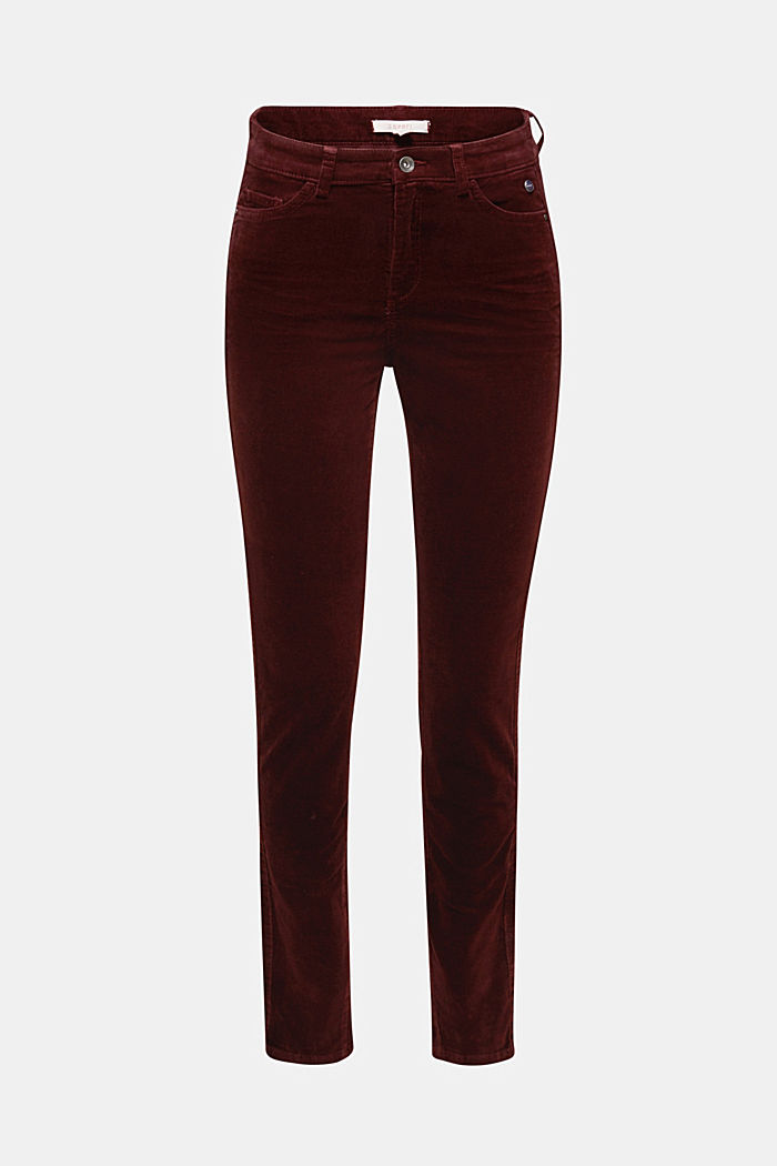 Stretch corduroy trousers, BORDEAUX RED, detail image number 6