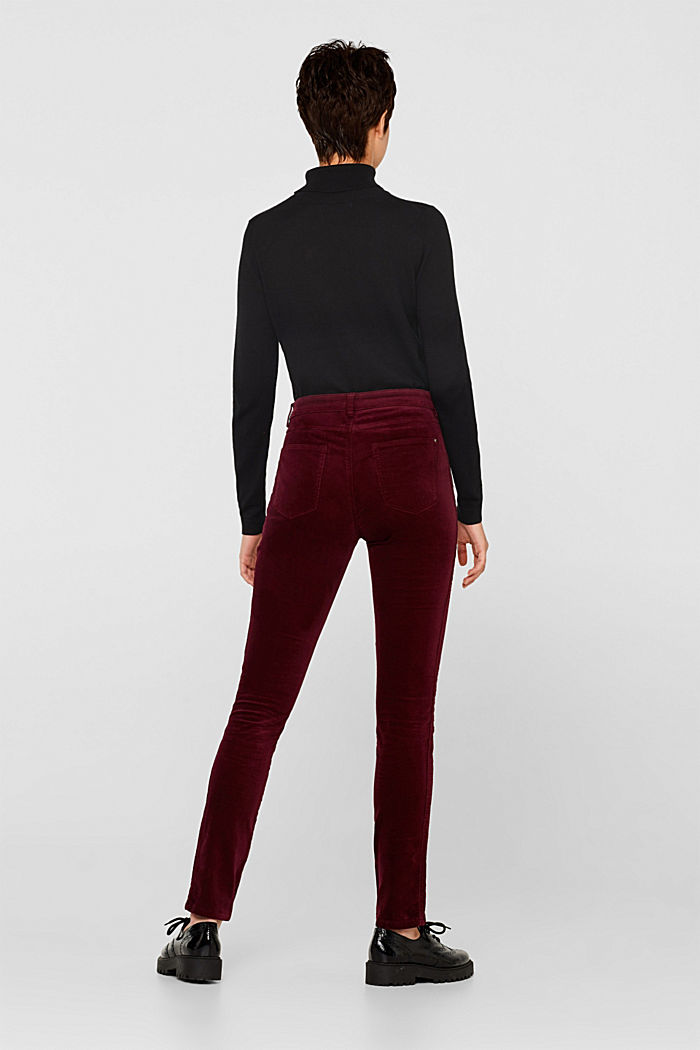 Stretch corduroy trousers, GARNET RED, detail image number 3