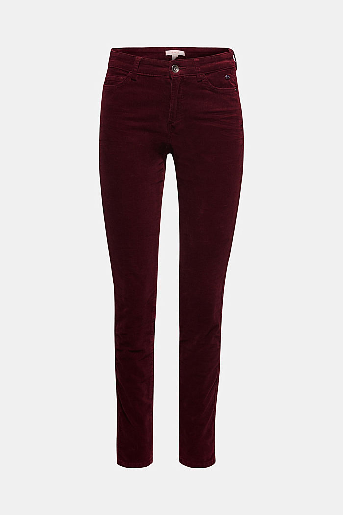 Stretch corduroy trousers, GARNET RED, detail image number 7