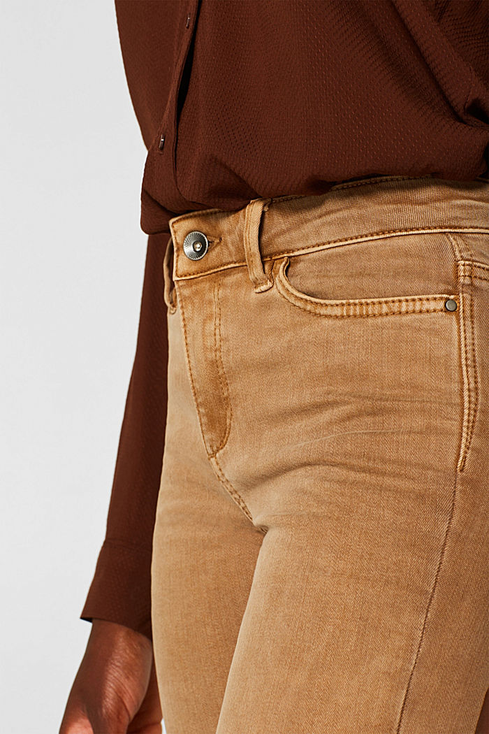 Shaping trousers with a washed finish, CAMEL, detail image number 2
