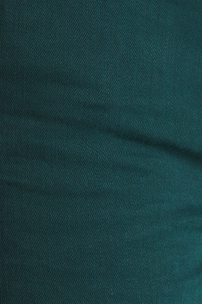 Shaping trousers with a washed finish, DARK TEAL GREEN, detail image number 4
