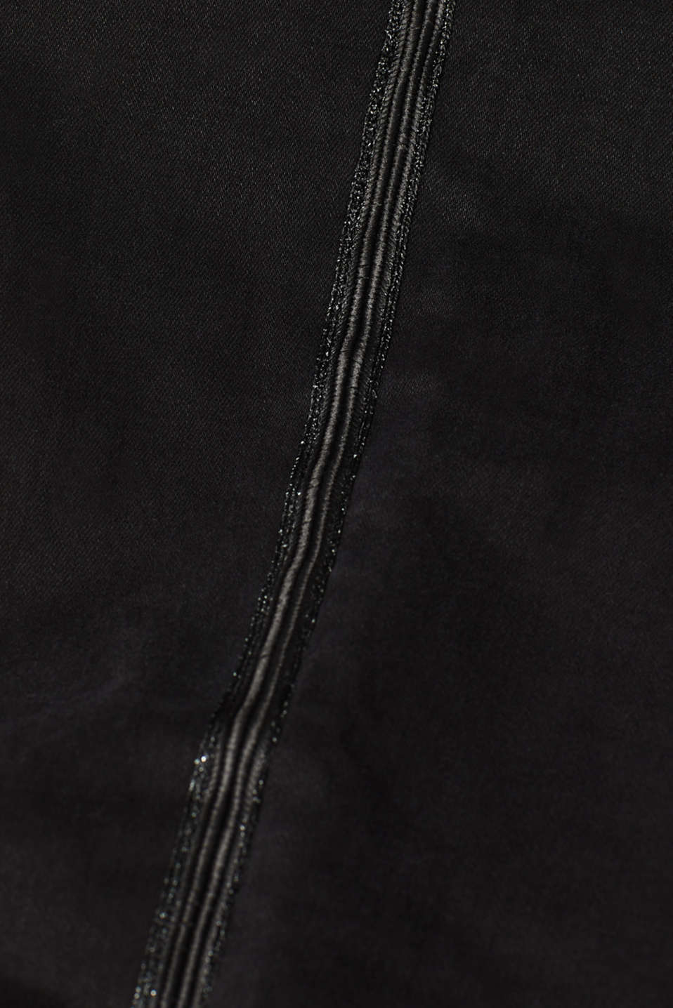 Stretch jeans with glittering woven tape, BLACK DARK WASH, detail image number 4