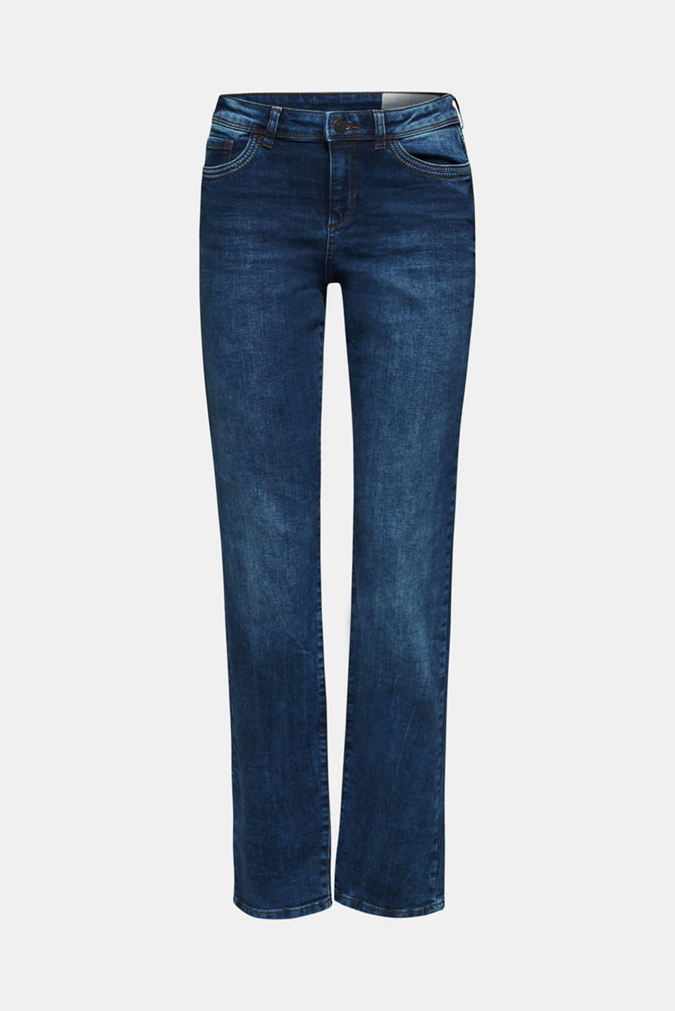 Stretch jeans containing organic cotton, BLUE MEDIUM WASH, detail image number 7
