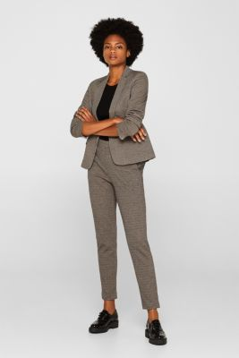 JERSEY SUIT mix + match stretch trousers, CAMEL, detail