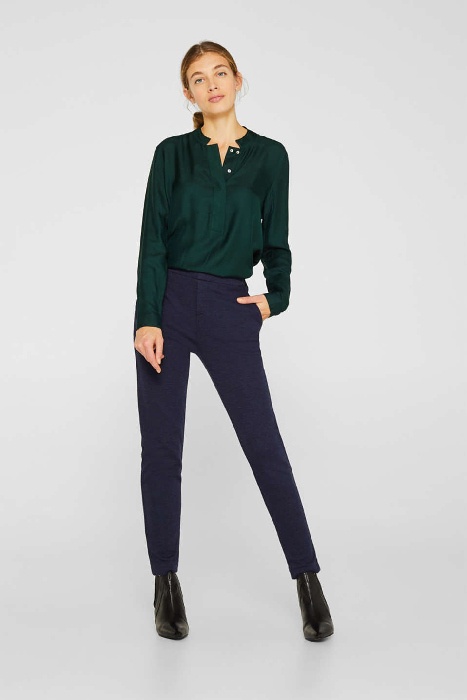 Esprit - Pantalon stretch Mix + Match EASY JERSEY
