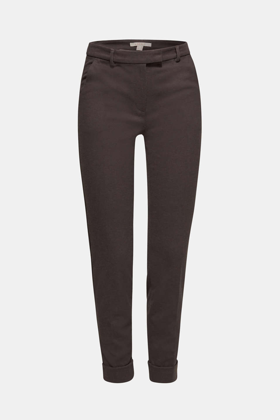 Esprit - Joggingbroek van flanel met stretch