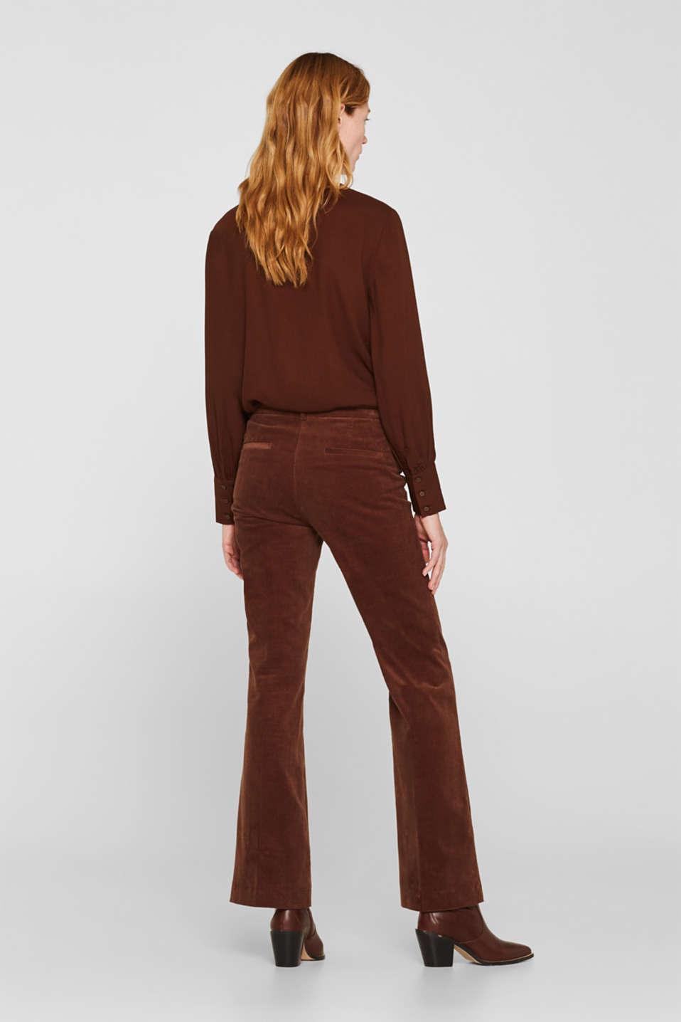 Pants woven, DARK BROWN, detail image number 3