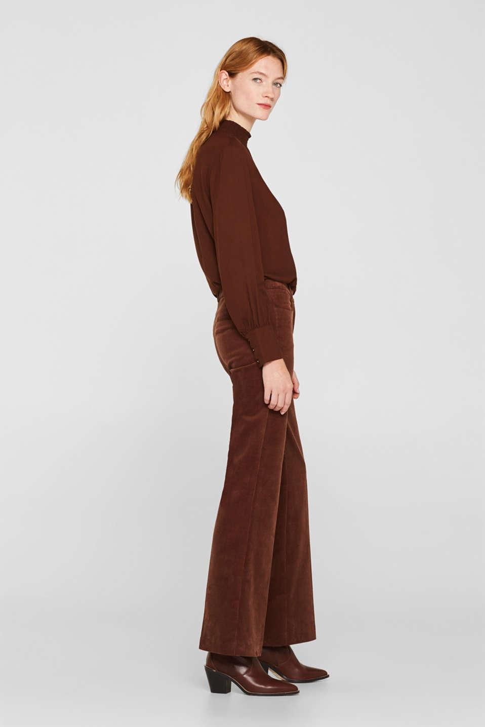 Pants woven, DARK BROWN, detail image number 5