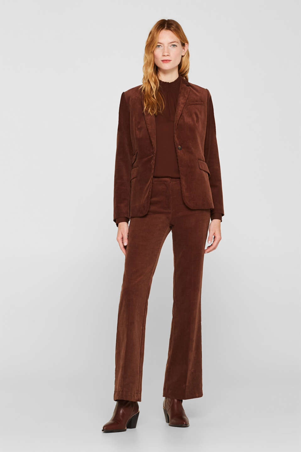 CORD mix + match bootcut trousers, DARK BROWN, detail