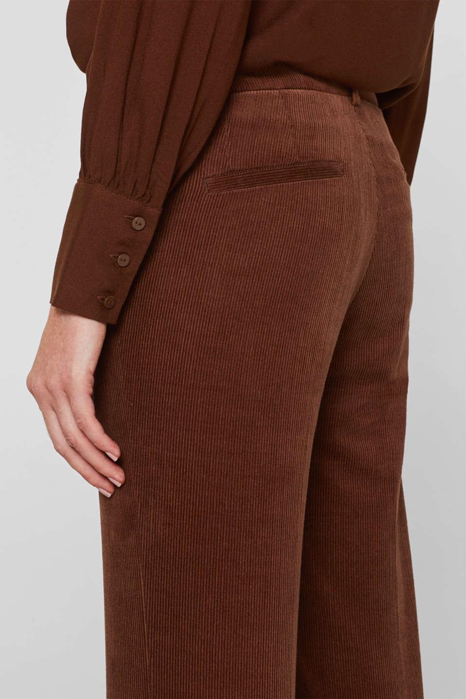 Pants woven, DARK BROWN, detail image number 6