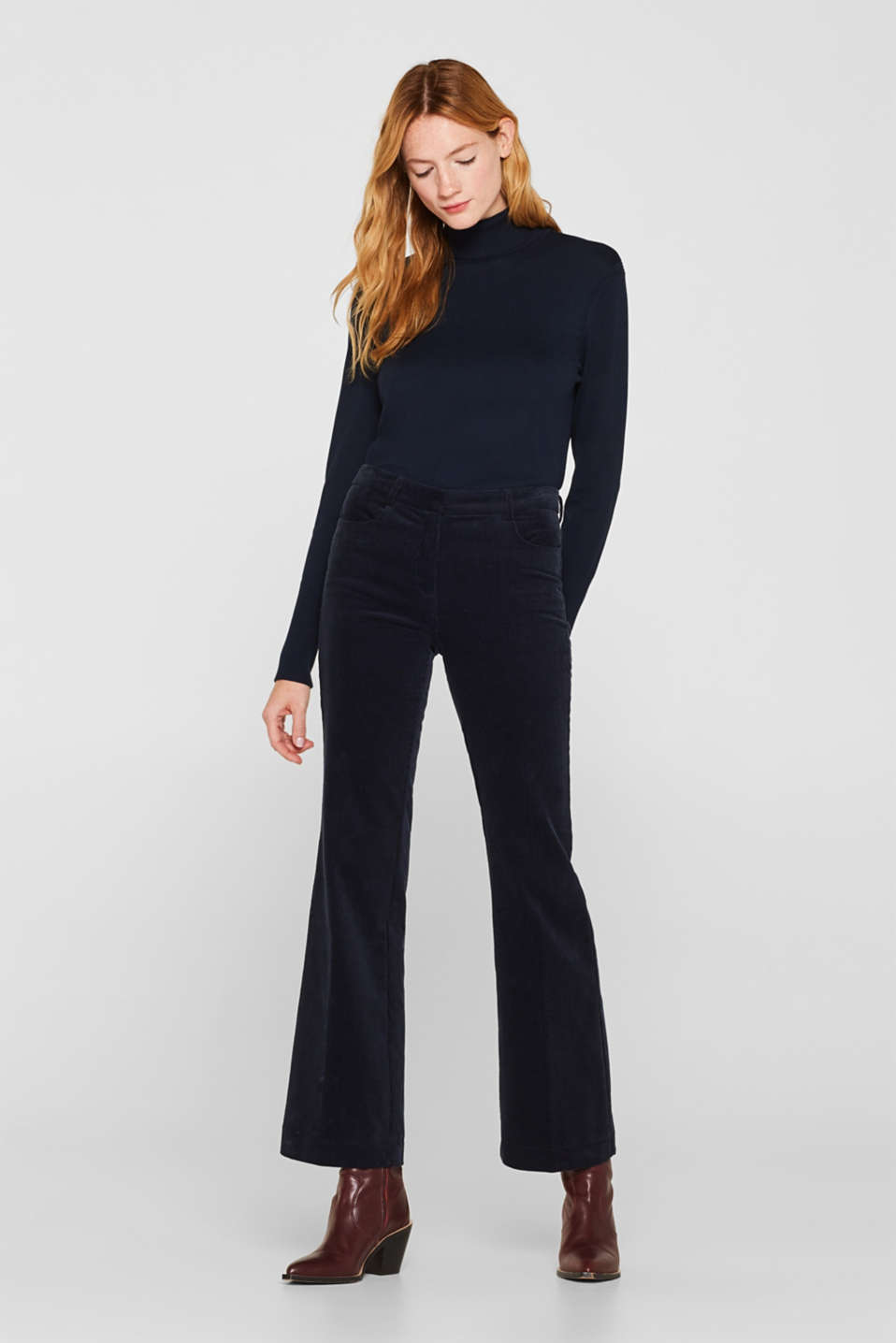 Esprit - CORD mix + match bootcut trousers