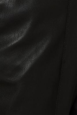 Stretch faux leather trousers, BLACK, detail