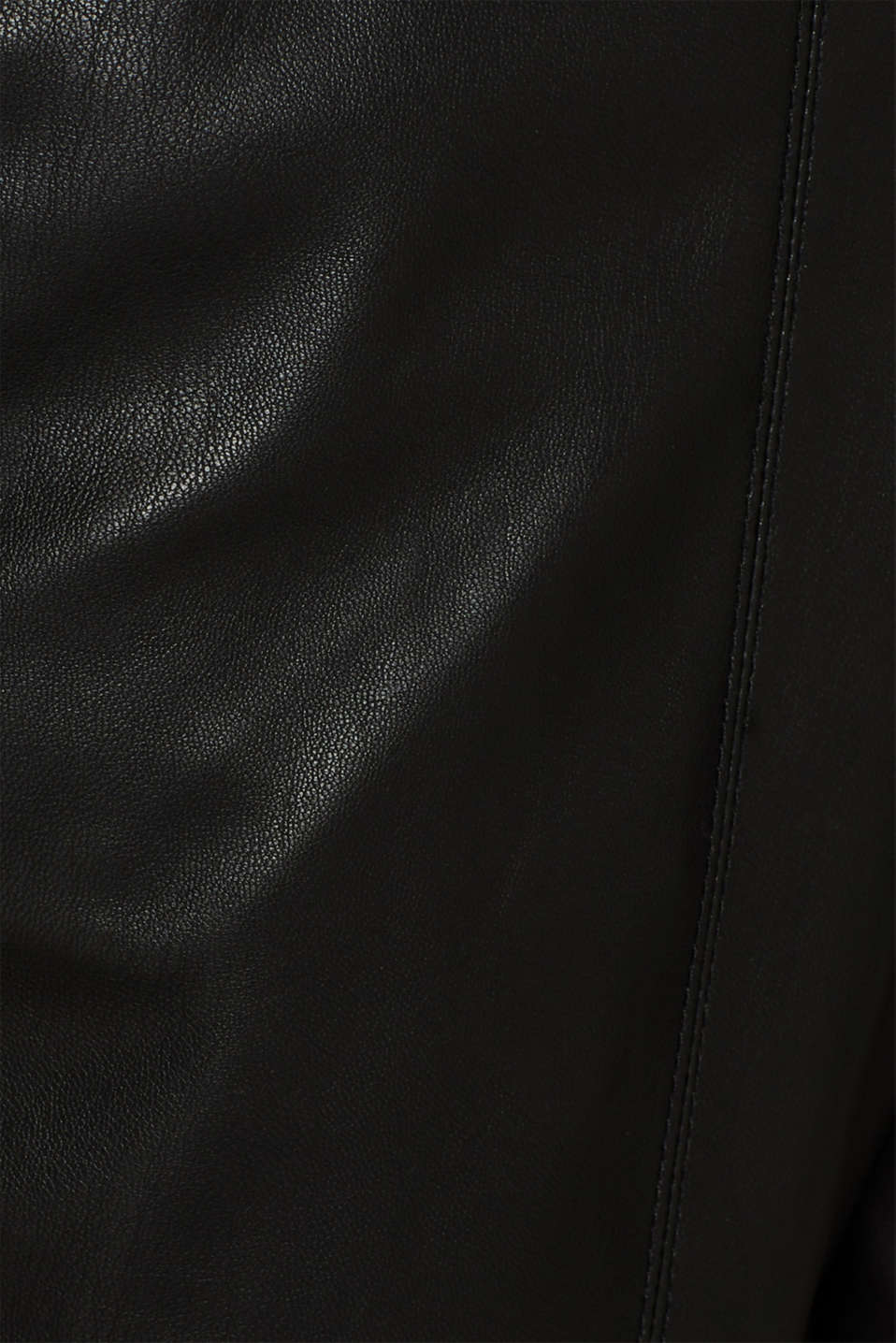 Stretch faux leather trousers, BLACK, detail image number 4