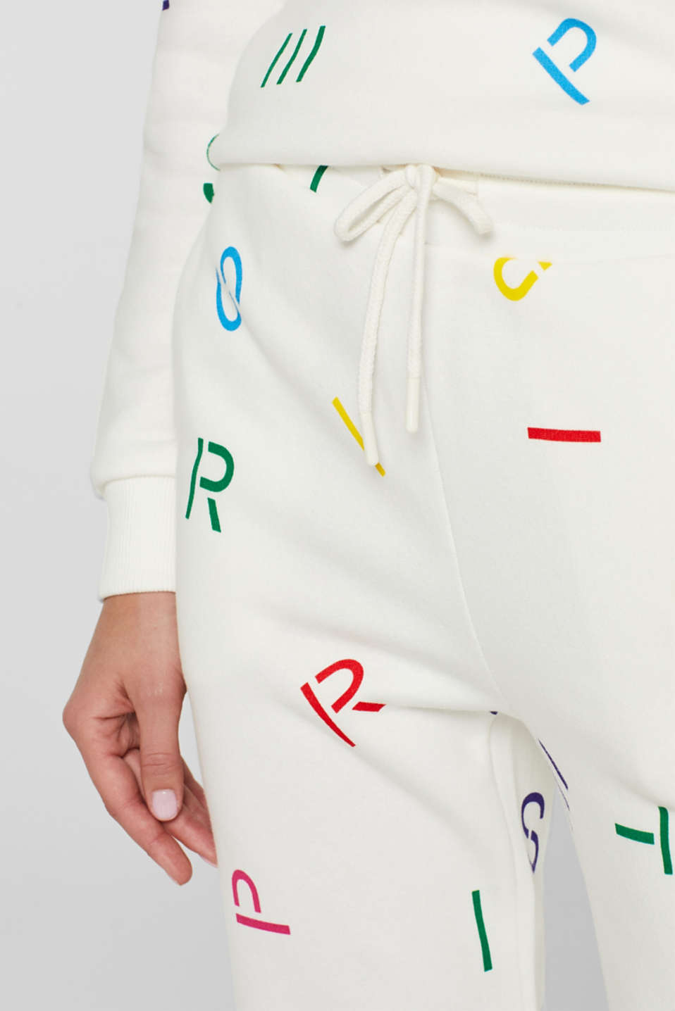 Tracksuit bottoms with logo, OFF WHITE, detail image number 2