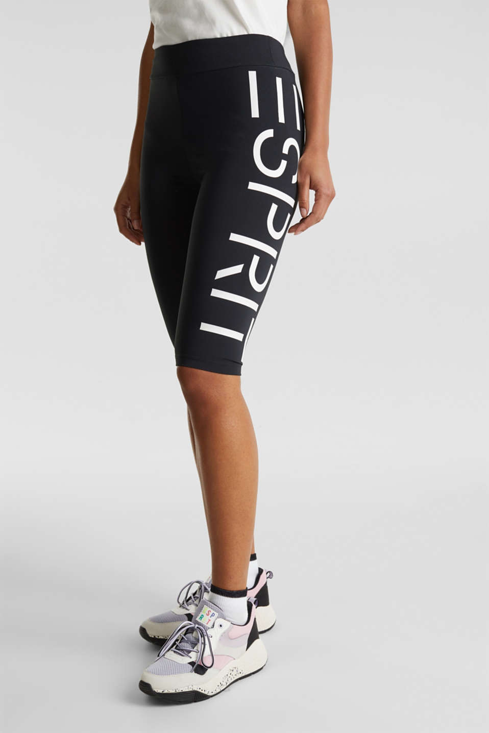#throwback stretch trousers with a logo, 100% cotton, BLACK, detail image number 3
