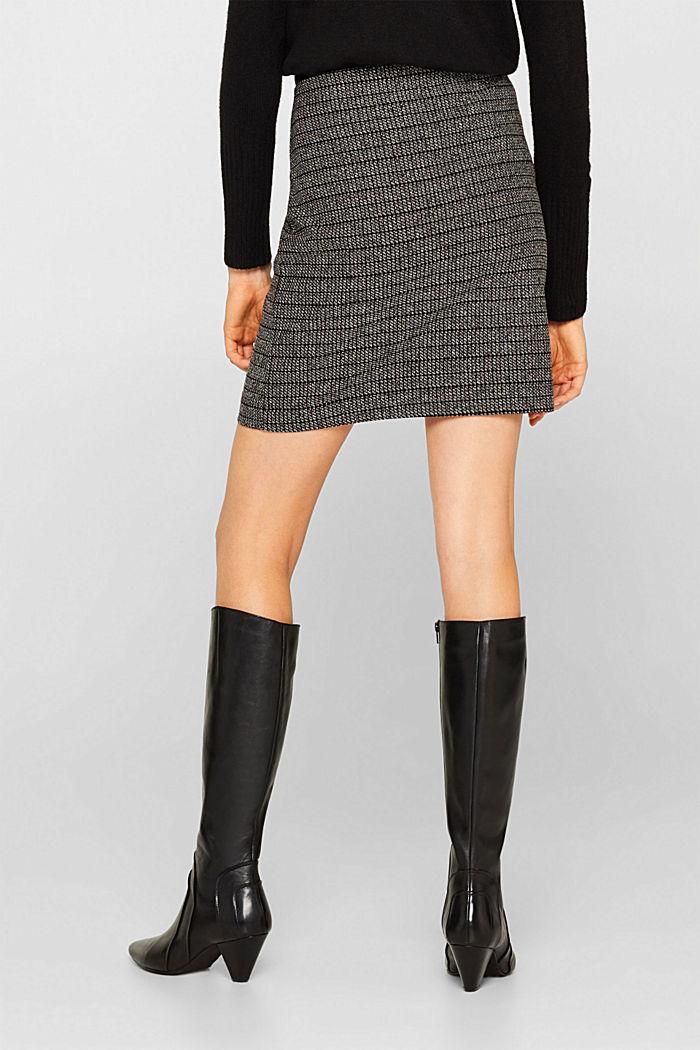 Stretch jersey mini skirt, BLACK, detail image number 3