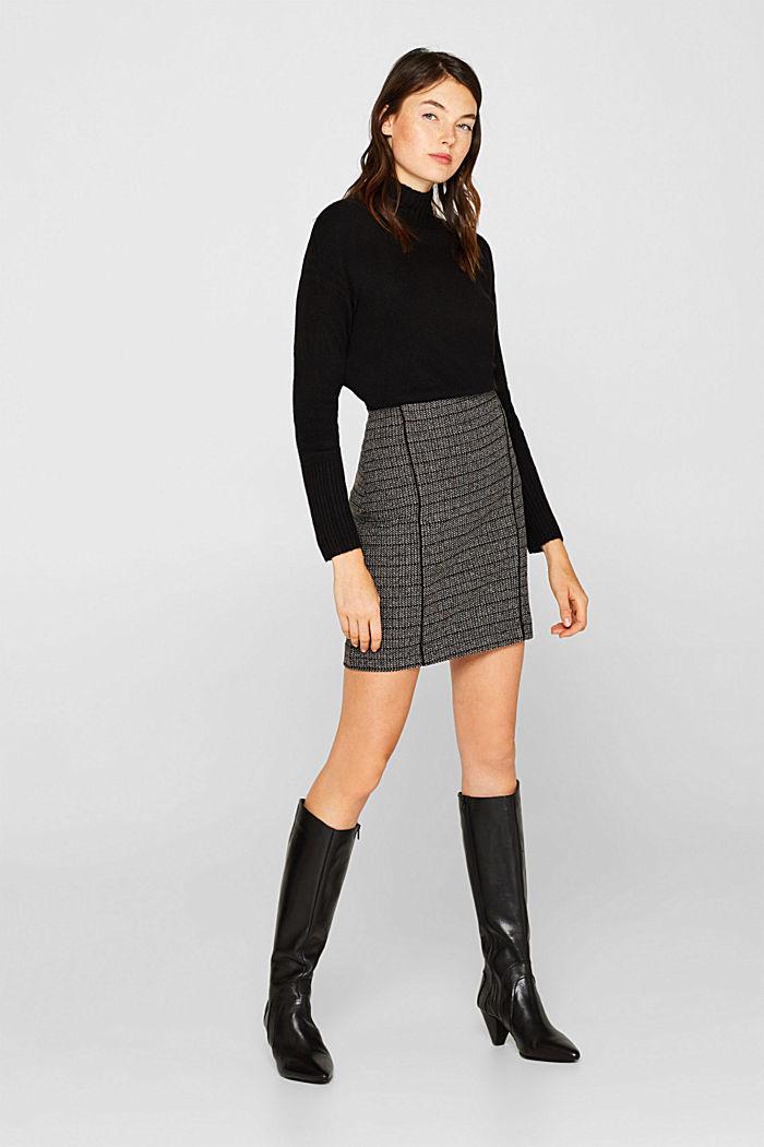 Stretch jersey mini skirt, BLACK, detail image number 5