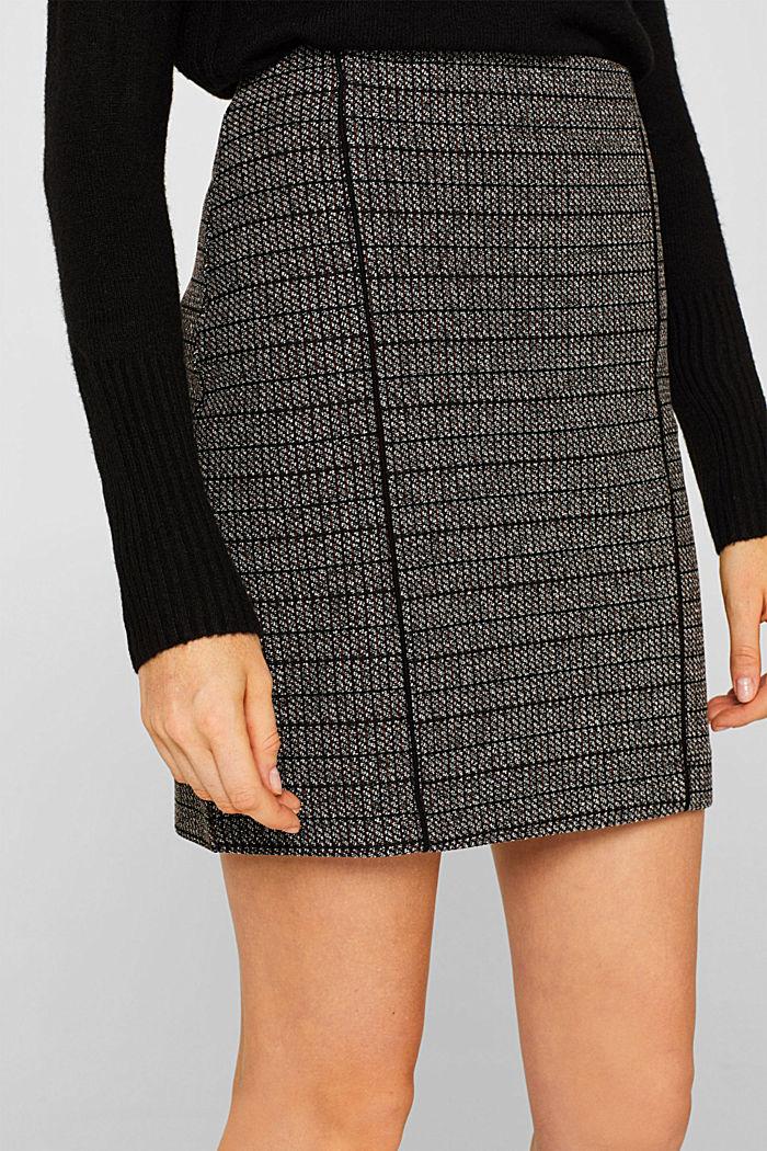 Stretch jersey mini skirt, BLACK, detail image number 2