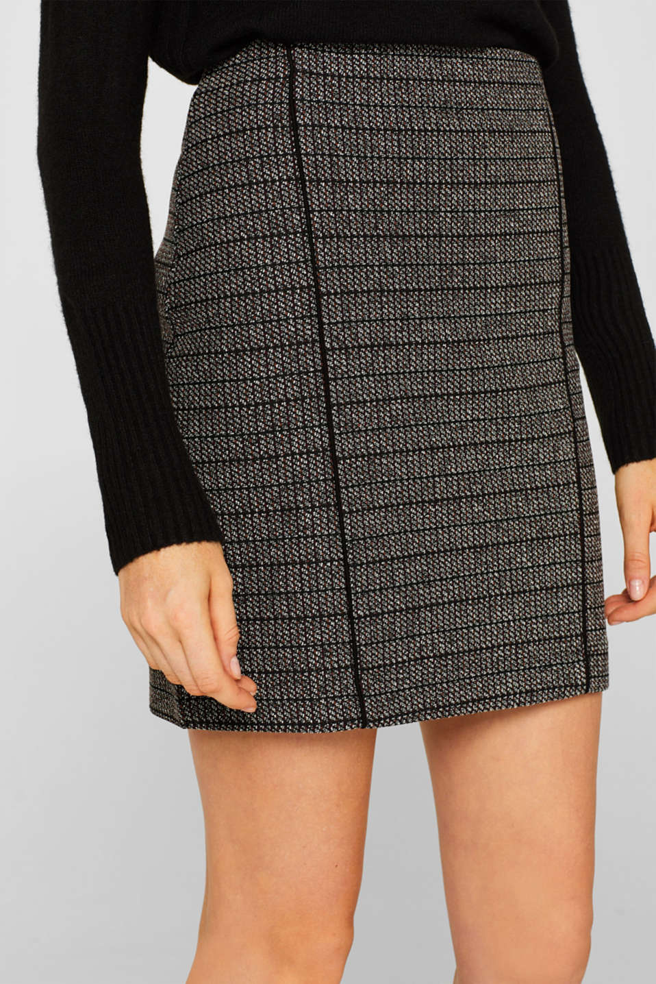 Skirts knitted, BLACK, detail image number 2