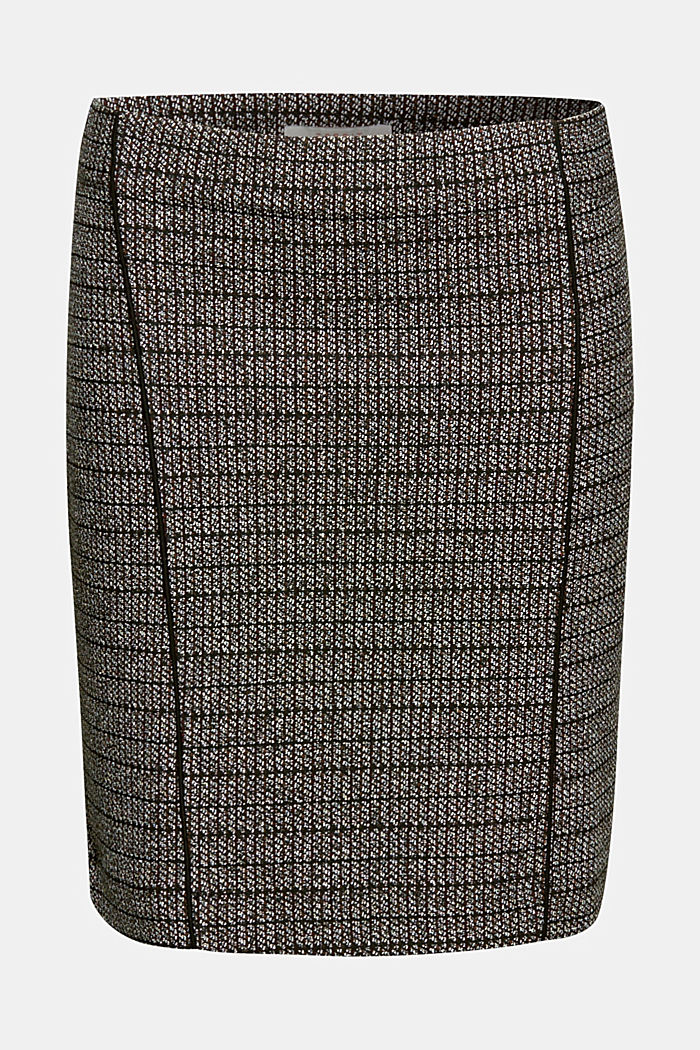 Stretch jersey mini skirt, BLACK, detail image number 6