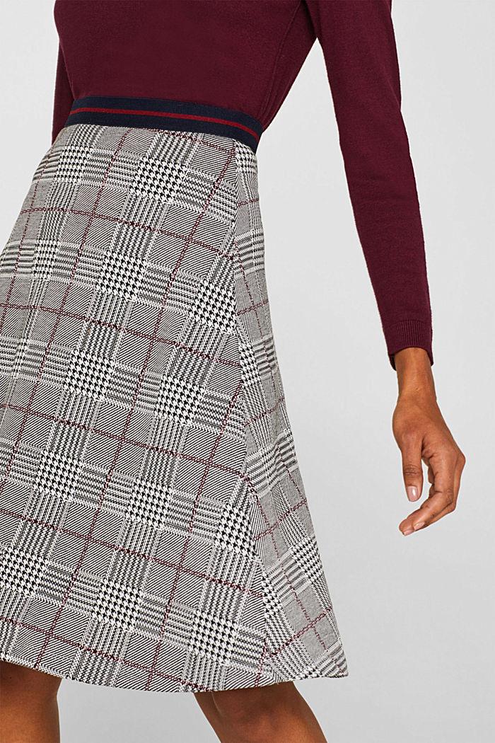 Flared stretch jersey skirt, GARNET RED, detail image number 1