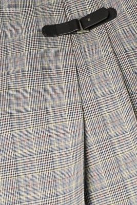 Pleated skirt with Prince of Wales checks