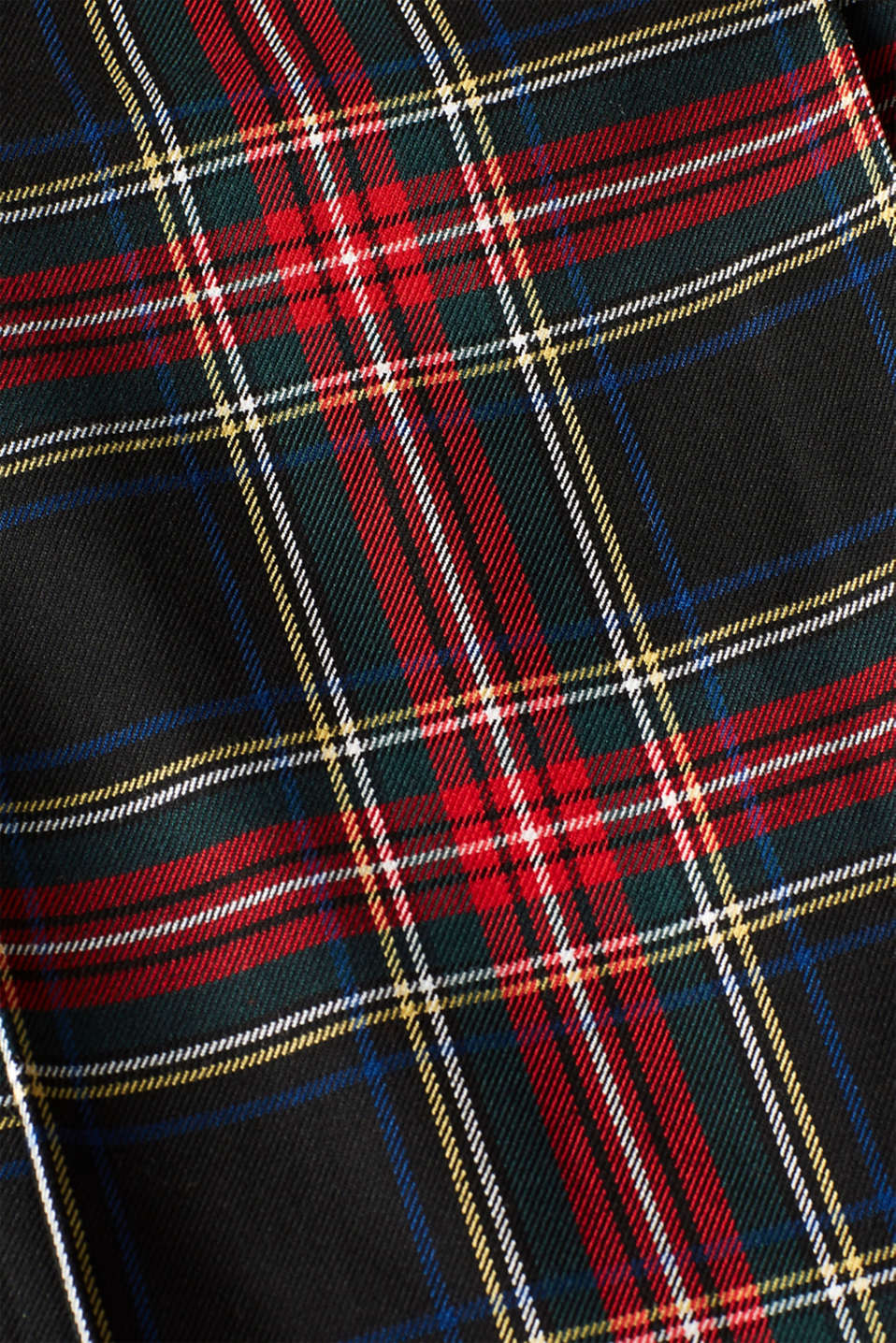 Pleated check skirt, BLACK, detail image number 4