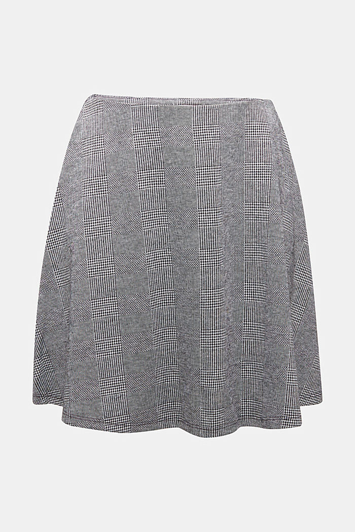 Jersey skirt with Prince of Wales checks