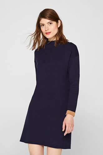 Dress in double-faced knit fabric