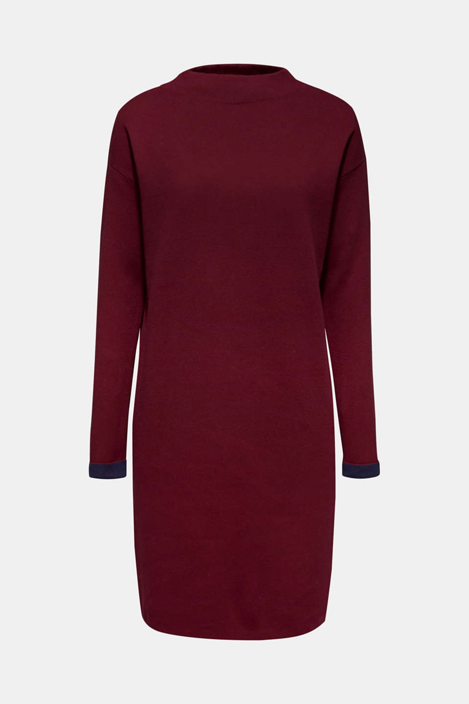 Dress in double-faced knit fabric, GARNET RED, detail image number 7
