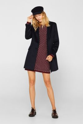 Knitted dress with a honeycomb texture, GARNET RED, detail
