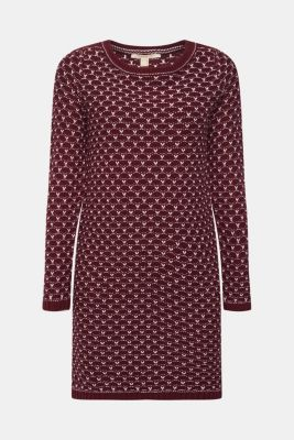 Esprit Strick Kleid mit Wabenstruktur im Online Shop kaufen