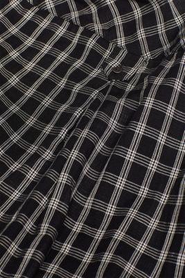 Shirt dress, 100% cotton, BLACK, detail