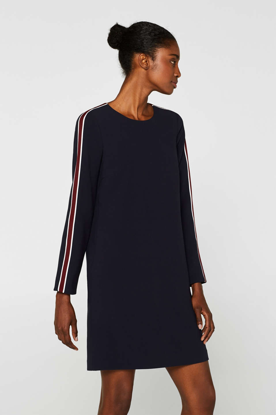 Esprit - Woven dress with racing stripes
