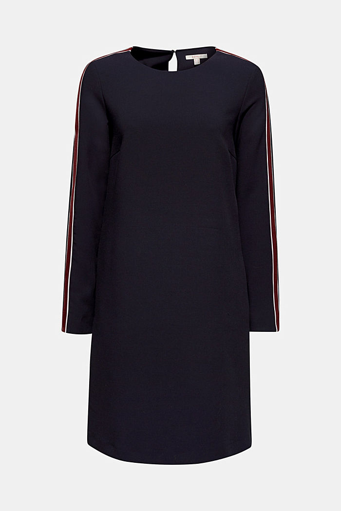Woven dress with racing stripes, NAVY, detail image number 7