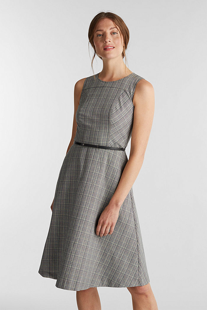 Etui-Kleid mit Glenchecks, BLACK, detail image number 0