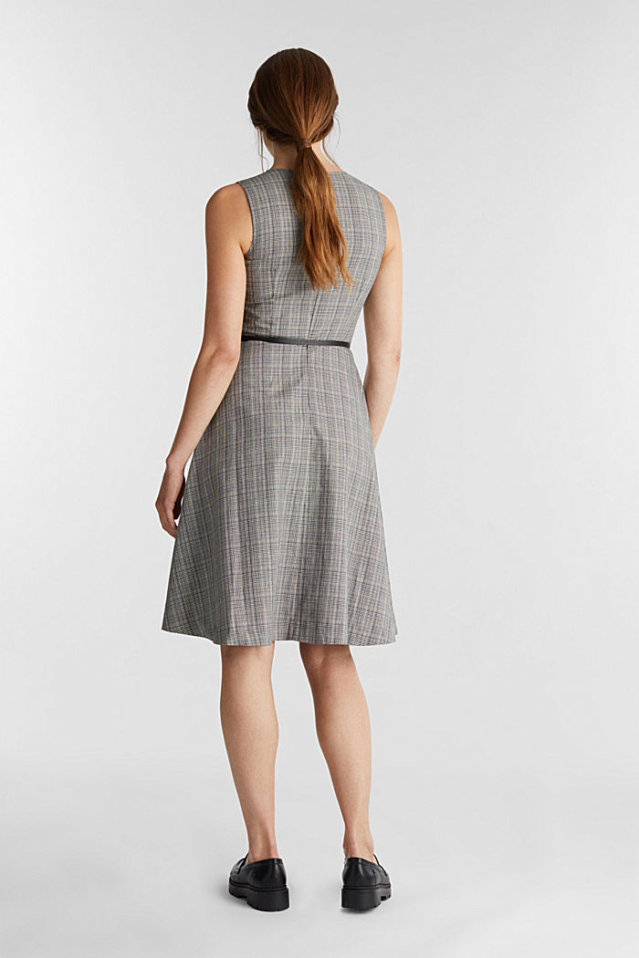 Etui-Kleid mit Glenchecks, BLACK, detail image number 2