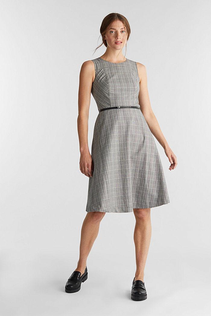 Etui-Kleid mit Glenchecks, BLACK, detail image number 1