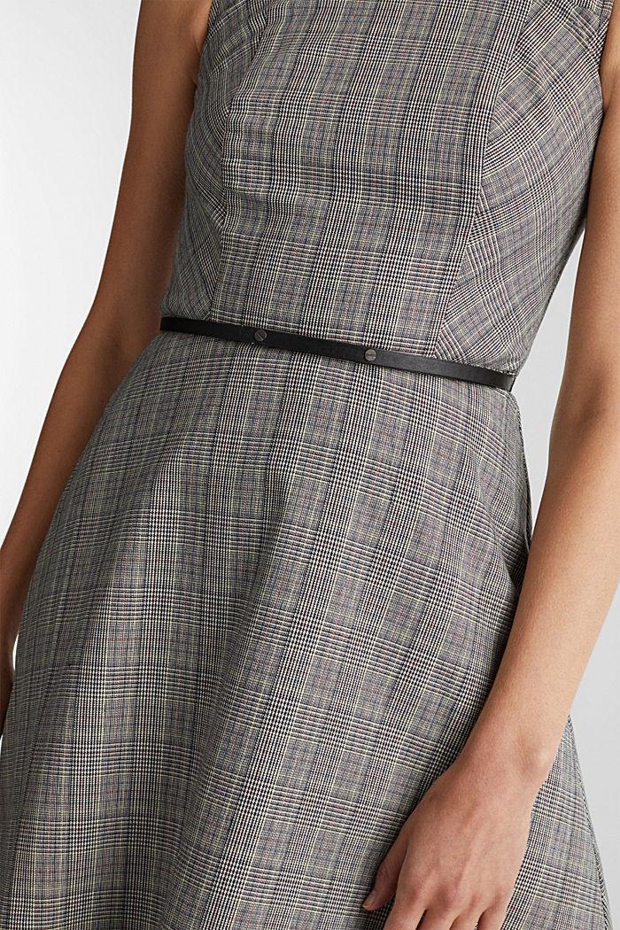 Etui-Kleid mit Glenchecks, BLACK, detail image number 3
