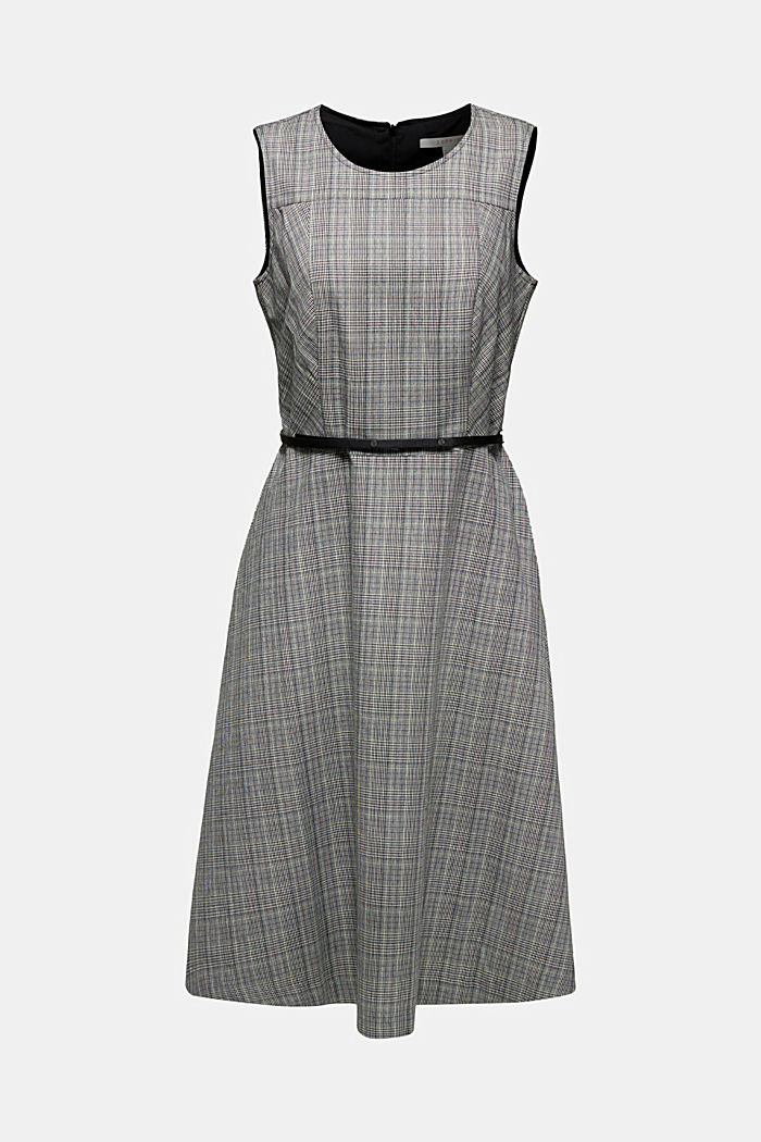 Sheath dress with a Prince of Wales check design