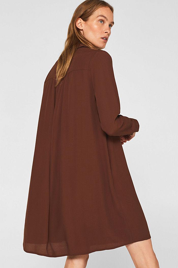 Fully flared smock dress, DARK BROWN, detail image number 2